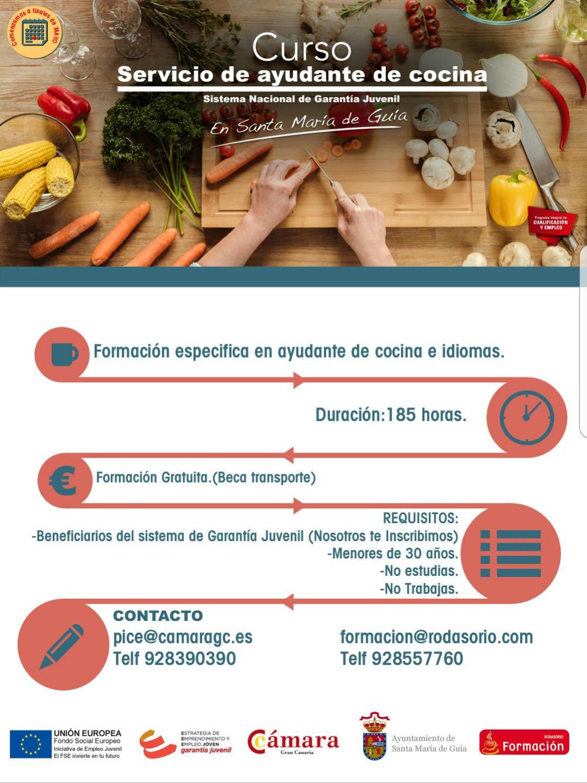 Portal de turismo santa mar a de gu a for Cursos de ayudante de cocina